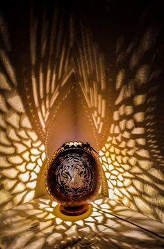 100% HANDMADE Gourd lamp art deco handcrafted Ottoman Turkish