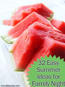 32 Ideas for Family Night - great for summer fun!