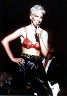 Remember seeing Annie Lennox in concert around 1986 wearing her infamous red bra!