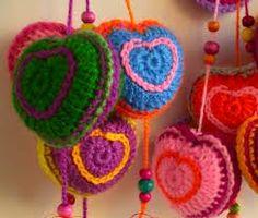 corazon tejido a crochet paso a paso - Buscar con Google