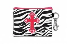 Striped - Pink Cross - Christian Coin Purses   TheBoutiqueWoman.com   Beautiful Things for Beautiful Ladies