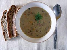 Šošovicová polievka nakyslo s kôprom (Slovak sour lentil soup with dill) Slovak Recipes, Lentil Soup, Lentils, Cheeseburger Chowder, Cravings, Dishes, Eat, Ethnic Recipes, Food