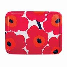Buy the Pieni Unikko Tray - - White/Red/Fuchsia from Marimekko at AMARA. Free UK delivery on all orders over Marimekko, Red Poppies, Tea Towels, Finding Yourself, Floral Prints, Pattern, Dinner Parties, Orange Red, Model