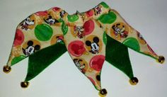 Medium Disney Character Jester Neck Wear with Bells Bandana Dog Accessory Pet Apparel: Pet Supplies