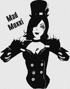 Stencil of Mad Moxxi from Borderlands
