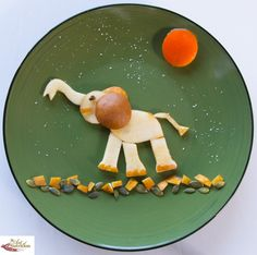 Creative food Pear Elephant