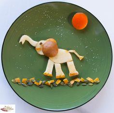 Creative food Pear Elephant