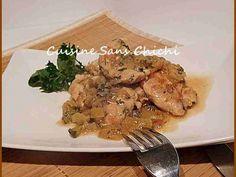 Recette Plat : Aiguillettes de poulet au citron confit par Cuisinesanschichi