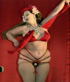 Burlesque dancer Dirty Martini.