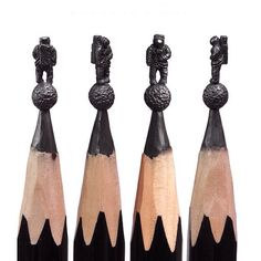Astronaut pencil carving art