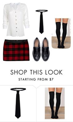 """Fantasia de Colegial"" by pimentaechocolate on Polyvore featuring Branca, RED Valentino, Zara, women's clothing, women, female, woman, misses and juniors"