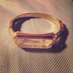 Ann Taylor crystal gold bracelet New without tags Ann Taylor Jewelry Bracelets