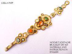 DIY KIT ONLY Mozart Soutache Bracelet Diy Kit with by CsillaPapp