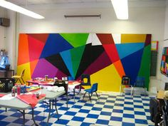 Bernard Williams: My Art Projects with Communities and Schools: Summer Mural Project at Boone Elementary School 2011