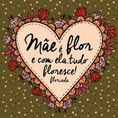 Lettering Tutorial, Hand Lettering, Poetry Happy, Happy Mom Day, Portuguese Quotes, Bujo Doodles, Sweetest Day, Sweet Quotes, Cute Pattern