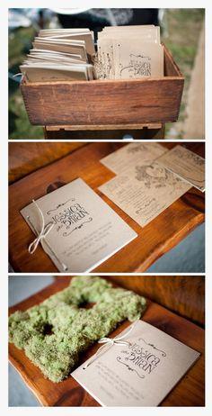 Kraft paper Wedding Program #kraftpaper #weddings #weddingprogram #vintage
