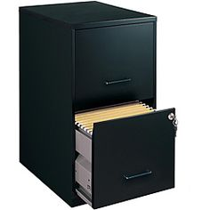 @Overstock.com - Office Designs Black-colored 2-drawer Steel File Cabinet - Keep your home or office organized with this convenient two-drawer file cabinet by Office Designs. Constructed from sturdy steel, the cabinet is designed with two gliding full-size drawers that hold standard letter-size hanging files.   http://www.overstock.com/Office-Supplies/Office-Designs-Black-colored-2-drawer-Steel-File-Cabinet/5853264/product.html?CID=214117 $67.49