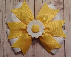 Daisy Hair Bow  Easter / Spring Hair Bow  by KathrynsRainBOWtique, $5.00