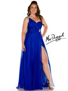 Royal Blue One Shoulder Plus Size Prom Dress.. i love this dress!