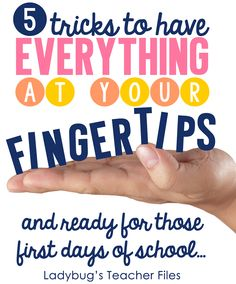 Ladybug's Teacher Files: Smooth Sailing Back to School Tips and Giveaways