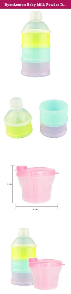 RyanLemon Baby Milk Powder Dispenser / Formula Dispenser / Food Container / Snack Box, Portable & Easy Carry, 2-Pack. This product set, for moms' easier feeding, includes 2 different styles of milk powder despensers. -Being small and light, they are great to carry along. -It Stores pre-measured powder formula (2.8ounce each compartment) for up to 3 feedings. -Portable and spill-proof, for parents' convenient feeding. -The red bucket shape container, the inside part of it can be removed…