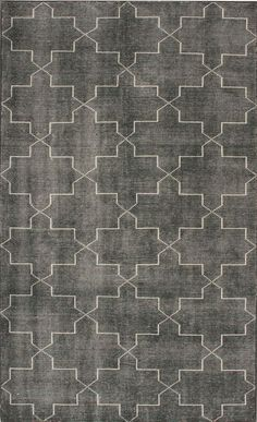 This Geometric lined rug adds not only physical, but visual comfort to the room. Teal Rug, Grey Rugs, Flagstone Flooring, Trellis Rug, Rug Texture, Interior Rugs, Colorful Wall Art, Textiles, Rugs Usa
