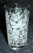 Libbey Rock Sharpe White Dove Floral Tumbler Set