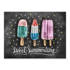 Nothing says Summer like a popsicle!  Sweet Summertime - Print