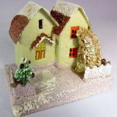 Lavendar and Yellow Putz House