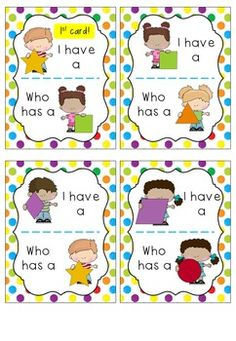 SHAPES - I Have, Who Has? This is such a fun game to engage students in learning about shapes! There are two sets included as well as black & white versions. You can find them in my TPT store.