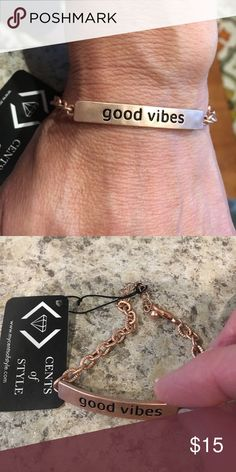 NWT Good Vibes Bracelet New rose colored tribe bracelet. Cents of Style Jewelry Bracelets