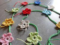 bloemenslinger patroon. Flower garland tutorial in Dutch