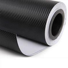 127*30 CM Étanche En Fiber De Carbone Vinyle DIY Modifié Autocollant De Voiture Noir Lignes Décoratif Autocollants Pour Voiture Style CT-237