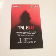 True Blood X-box Live Gold 1 Month Membership (San Diego Comic Con Promo)