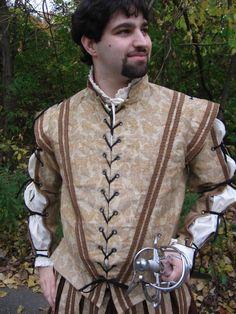 Men's Renaissance Doublet and Pants Outfit. $250.00, via Etsy.