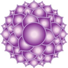 """The representation of the """"1000 Petaled Lotus"""" the Crown Chakra..."""