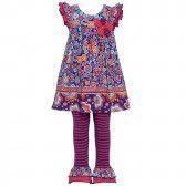 bf0a86c1505 Bonnie Jean Baby Girls Purple Floral Striped 2 Pc Legging Set 12-24M -  SophiasStyle