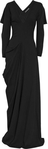ALEXANDER MCQUEEN Wool-crepe Gown - Lyst