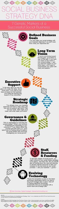 Visualizing the DNA of a Social Business Via Infographics