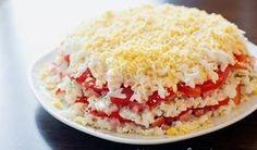 Рецепт селедки под шубой с сыром и помидорами