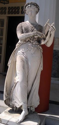 Terpsichore, the Muse of dance,  in Achílleion, Kerkira (Corfu).