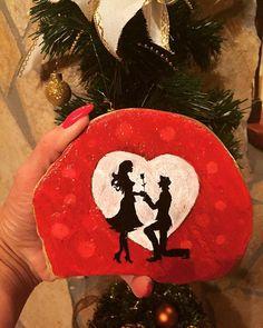 #handmade #gift #stonepainting #paintedstones #rockart #love