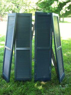 Vintage wood shutters by PrairieTreasure on Etsy, $80.00