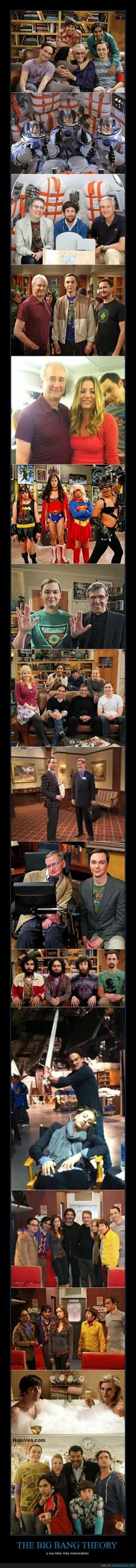THE BIG BANG THEORY - y sus fotos más memorables