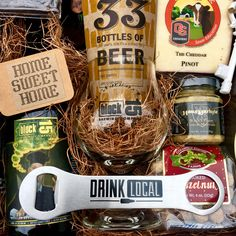 New home Realtor closing local food & beer gift