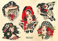 Traditional Tattoo Reference, Traditional Hand Tattoo, Traditional Tattoo Old School, Body Art Tattoos, Leg Tattoos, Tattoo Ink, Arm Tattoo, Bert Grimm, Vintage Tattoo Design