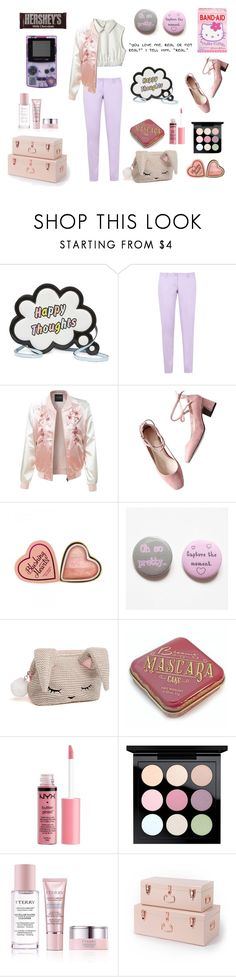 """I'm Lost in the Color of Your Eyes"" by psycho-tsundere-fox ❤ liked on Polyvore featuring Hello Kitty, Sophia Webster, Armani Jeans, LE3NO, COS, Charlotte Russe, MAC Cosmetics, By Terry and Hershey's"