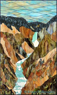 Grand Canyon of the Yellowstone River Kasia Mosaics