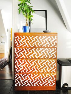 10 diy Furniture Makeovers - I like the last 3 best - consider lacquering entry console - consider treatment like this pic for dresser(s) - or vice versa