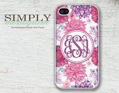 iphone+4+case++plastic+or+silicone+rubber++by+simplymonogram,+$16.99